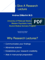 Research Lecture