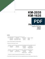 KM 1635 2035 Parts List