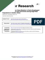 p53 Tumor Suppressor Gene Mutation in Early Esophageal