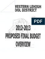 Proposed Final Budget 2012-13