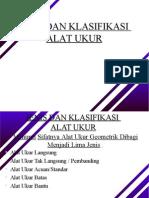 1. Jenis Dan Klasifikasi Alat Ukur