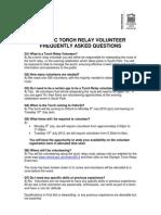 Torch Relay Volunteer FAQ's