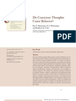 Do Conscious Thoughts Cause Behavior Baumeister