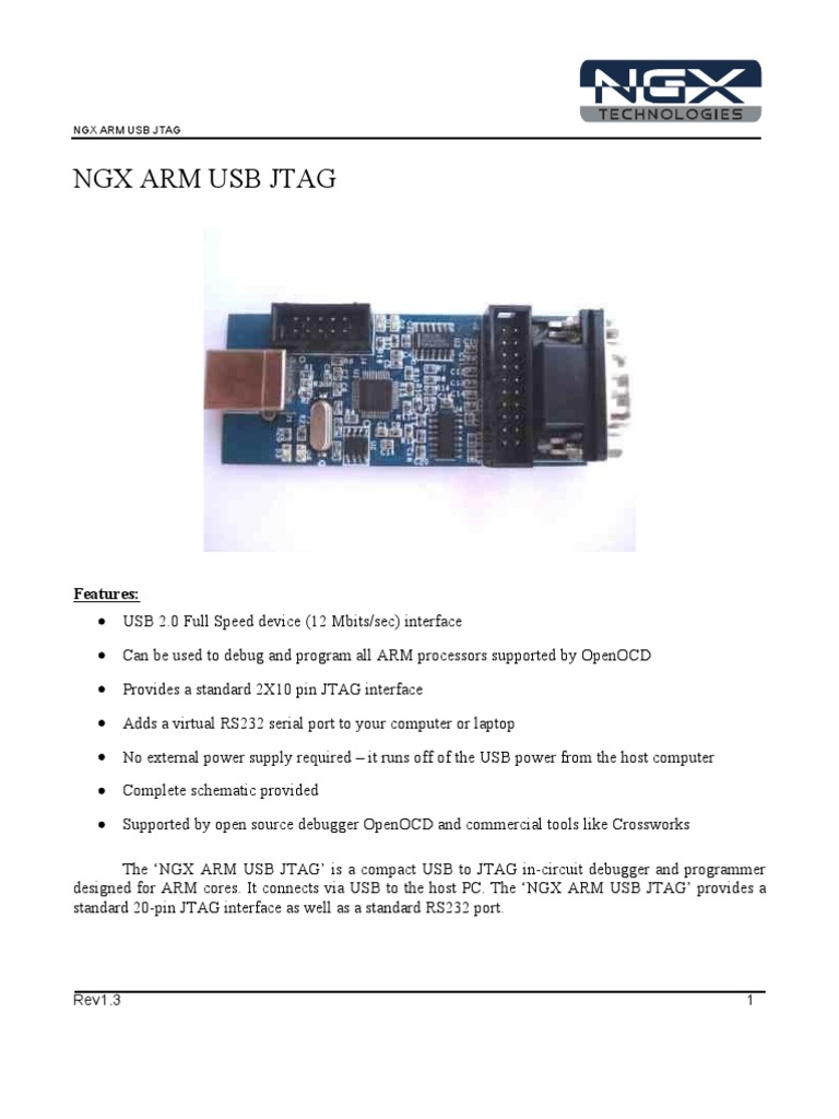 Ngx Arm Usb Jtag Digital Technology Rs232 Serial Port Pic Programmer
