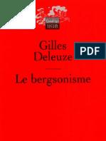Gilles Deleuze - Le Bergsonisme