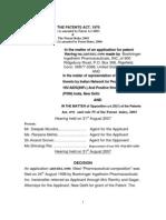 2485 DEL 1998 Patent Office Rejection