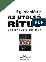 Yrsa Sigurdardottir-Az Utolso Ritus
