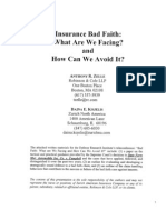 Insurance Bad Faith What Are We Facing (Adjuster Manual)