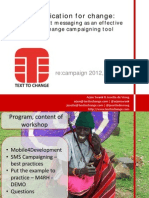 Text to Change - Mobile4Development