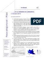 Congiuntura_Prezzi_Lombardia_num 2 - I 2012