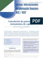 Ejemplo de Baja de Pasivo Financiero