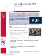 Factsheet - Afghanistan Timeline to 2014 May 2012 Version