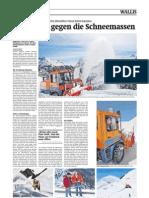 Walliser Bote - Die Räumungsarbeiten auf den Oberwalliser Pässen haben begonnen