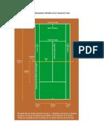 Dimensiones Oficiales de La Cancha de Tenis