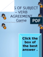 Past Tense of the Verb Game