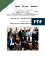 Press Release 2012 Uchrc Unity Award Recipients