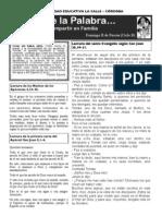 Hoja Dominical Domingo II Pascua Ciclo B