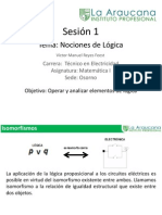 Sesión 1 - Nociones de lógica