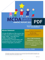 Macau Child Development Association 2011 Annual Report