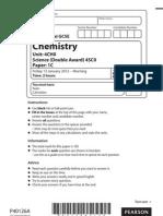 EDEXCEL 4CH0 1C Chemistry JAN 2012 question paper