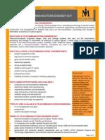 MQ Telecommunications Engineering Career Fact Sheet 08 FINAL