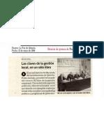 Presentación de El libro de la Gestión Municipal. La Voz de Almería