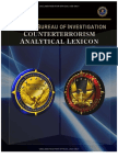 FBI Counterterrorism Analytical Lexicon
