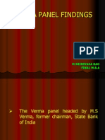 Verma Panel Findings Ppt