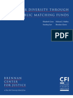 Donor Diversity Through Public Matching Funds