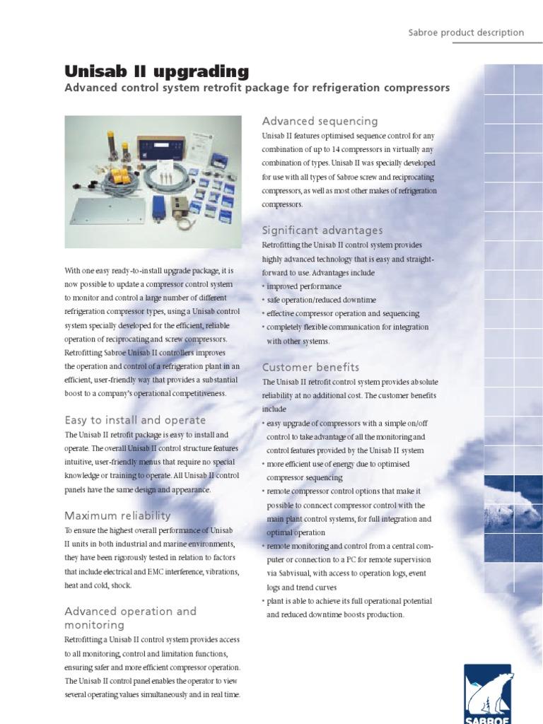Controls_Unisab_II_upgr_10_1_ 03 04 | Gas Compressor