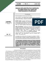 n-2396b - ensaio não-destrutivo inspeção automatizada de tubos de perfuração e produção