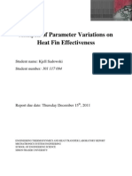 Analysis of Parameter Variations in Heat Sink Effectiveness