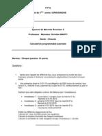 3MGP,BQ - Partiel Marchés boursiers 2 (énoncé) 2009-2010