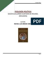 TEOLOGÍA POLÍTICA SEGUN GUEYDAN DE ROUSSEL - De Rafael Breide Obeid (Resumen)