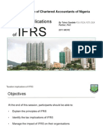 Taxation Implications of Ifrs