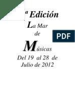 Programación de conciertos de La Mar de Músicas 2012