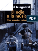 Pascal Quignard El Odio a La Musica