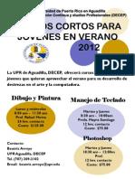 Flyer Cursos Verano 2012 a Jovenes