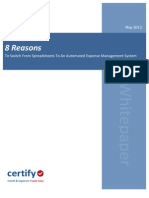 8 Reasons to Switch from Spreadsheet Expense Reporting To An Automated Solution