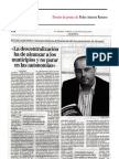 El Mundo, entrevista, mayo 2006