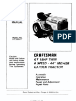 23302-Craftsman GT18 Garden Tractor 917.255917