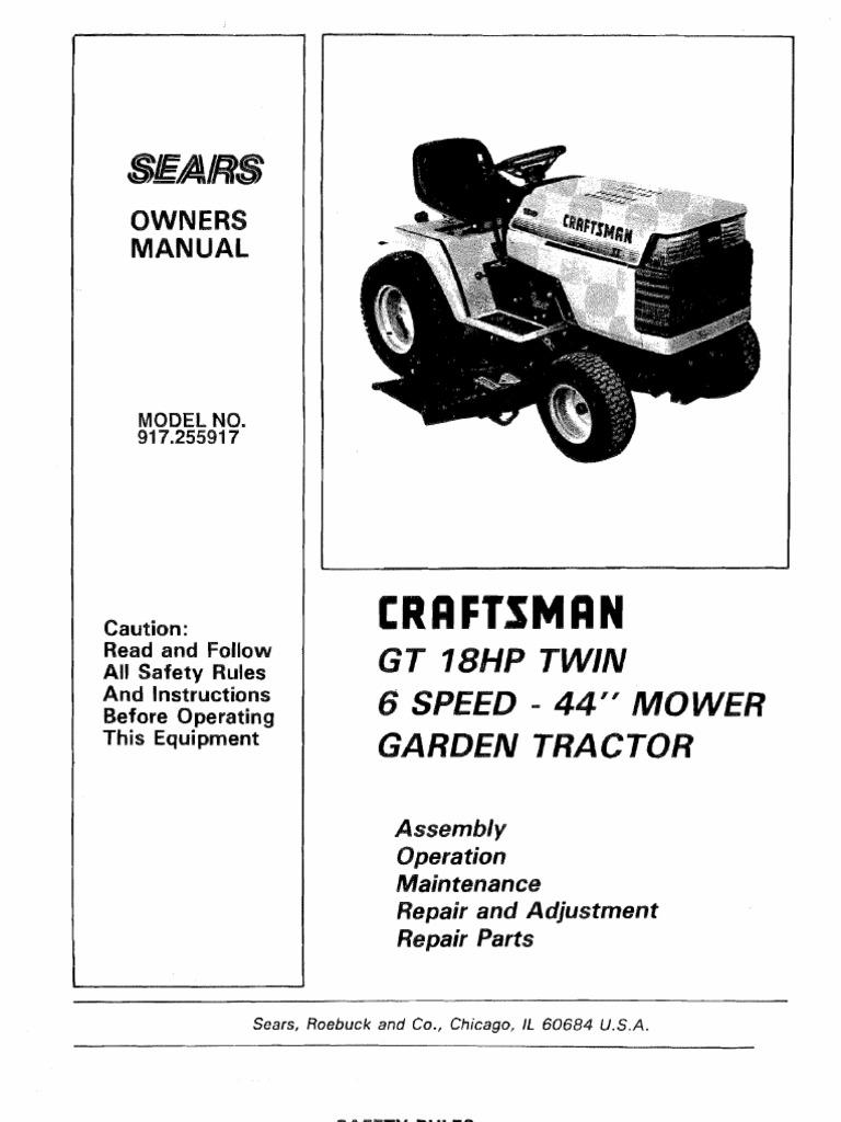 wiring diagram sears gt18 wiring diagram database rh buraya co Craftsman GT 18 Parts Sears GT 18 On eBay