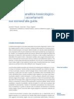 La strategia analitica tossicologico-  forense negli accertamenti  sull'idoneità alla guida