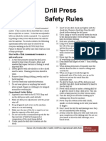 Drill Press Safety Rules 6-15-09