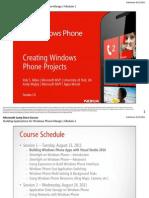 Creating Windows Phone Projects (Mango 7.5)