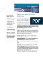 Upstream Joint Venture Flyer