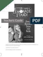 Better Than a Lemonade Stand_Teacher's Guide
