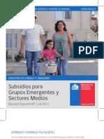 Subsidios Para Grupos Emergentes y Sectores Medios