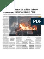 El oro principal mineral de exportación en Perú