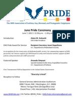 DHS Pride - June Pride Ceremony Flier
